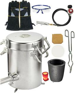 0-28LBS Gas Propane Melting Furnace Kit, metal casting machi