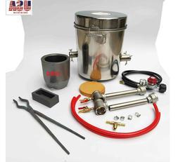 10 KG Gas Metal Melting Furnace Foundry Kit Copper Propane F