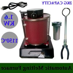 2KG Automatic Electric Metal Melting Furnace Forge Gold Copp